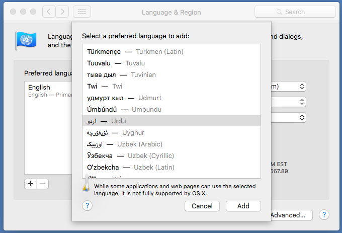 Urdu on Computers